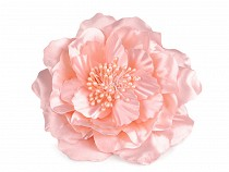 Bross / rózsa dísz gyöngy csillámmal Ø13 cm