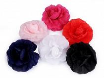 Broșă / clamă de păr trandafir, Ø10 cm