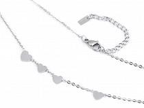 Halskette aus Edelstahl Herz, Stern, Kreuz