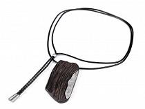 Lange Design Halskette aus Holz