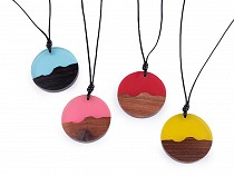Necklace with Wooden / Rasin Pendant