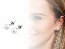 Boucles d'oreilles en acier inoxydable avec perle