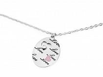 Halskette aus Edelstahl Oval, Herz, Schmetterling Love