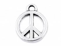 Medál peace Ø12 mm