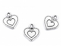 Metal Charm Heart 12x13 mm