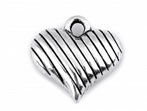 Metal Charm Heart 14x15 mm