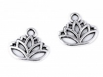 Metal Charm Lotus 15x17 mm