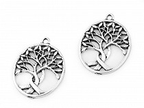 Metal Charm Tree of Life 24x32 mm