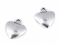 Metal Charm Heart 10x12 mm