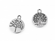 Metal Charm Tree of Life Ø15 mm
