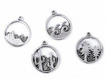 Metal Charm - Cactus, Tree, Mountain, See