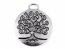 Metal Charm Tree of Life Ø23 mm