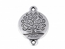Metal Sew on Charm / Spacer Tree of Life 19x27 mm