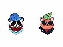 Fa bross 3D panda, macska, hiúz