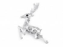 Brož s broušenými kamínky jelen