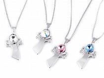Necklace with Angel Pendant, Swarovski Elements Rivoli