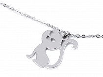 Stainless Steel Necklace Cat, Heart