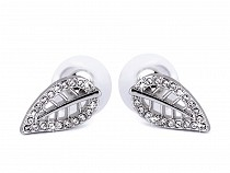 Stainless Steel Leaf Stud Earrings