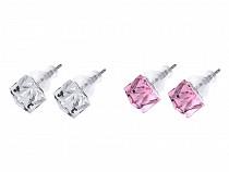 Earrings with Swarovski Elements Cube