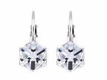 Earrings with Swarovski Elements Cube