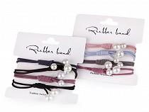 Haargummis Set mit Perlen