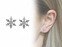 Boucles d'oreilles en acier inoxydable Flocon de neige