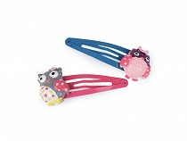 Snap Hair Clips Owl