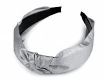 Breites Haarband mit Knoten mit Lurex
