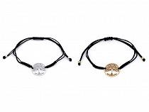 Shamballa Bracelet with Stainless Steel Pendant - Tree of Life