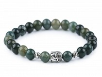 Buddha Armband Moos Achat, für Herren