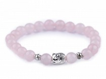 Ladies Buddha Bracelet Rose Quartz