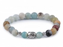 Ladies Buddha Bracelet Amazonite