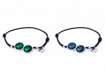 Bracelet extensible avec composants et cristaux en acier inoxydable
