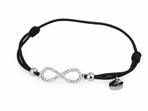 Stretch Bracelet with Stainless Steel Pendant - Infinity