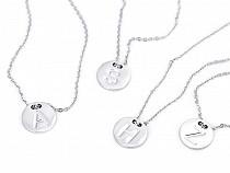 Halskette aus Edelstahl mit Buchstaben / Alphabet