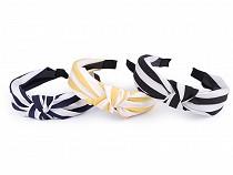 Breites Haarband mit Knoten gestreift