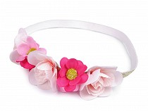 Elastic Flower Headband with Lurex