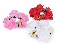 Elastic de păr cu flori