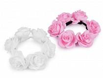 Gumka do włosów z różami