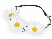 Elastic Flower Headband - Marguerites