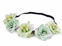 Elastisches Haarband mit Blumen / Blüten