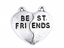 Anhänger Best Friends 22x22 mm