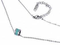 Halskette aus Edelstahl Emaille-Ring
