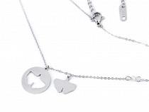 Halskette aus Edelstahl Ginkgo Biloba