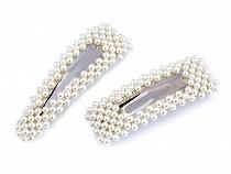 Sponka do vlasů pukačka s perlami