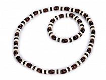 Halskette und Armband aus Holzperlen - Set