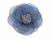 Brooch Flower with Beads