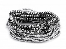 Multi-row Bead Stretch Bracelet 18 pcs/Set