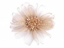 Brošňa kvet s brúsenými korálkami 2. akosť