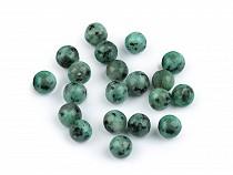 Minerálové korálky Kiwi stone Ø6 mm 2. jakost
